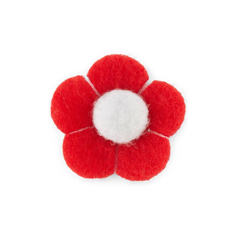 Καρφίτσα Πέτου Κόκκινο και Λευκό Λουλούδι  617bf456988