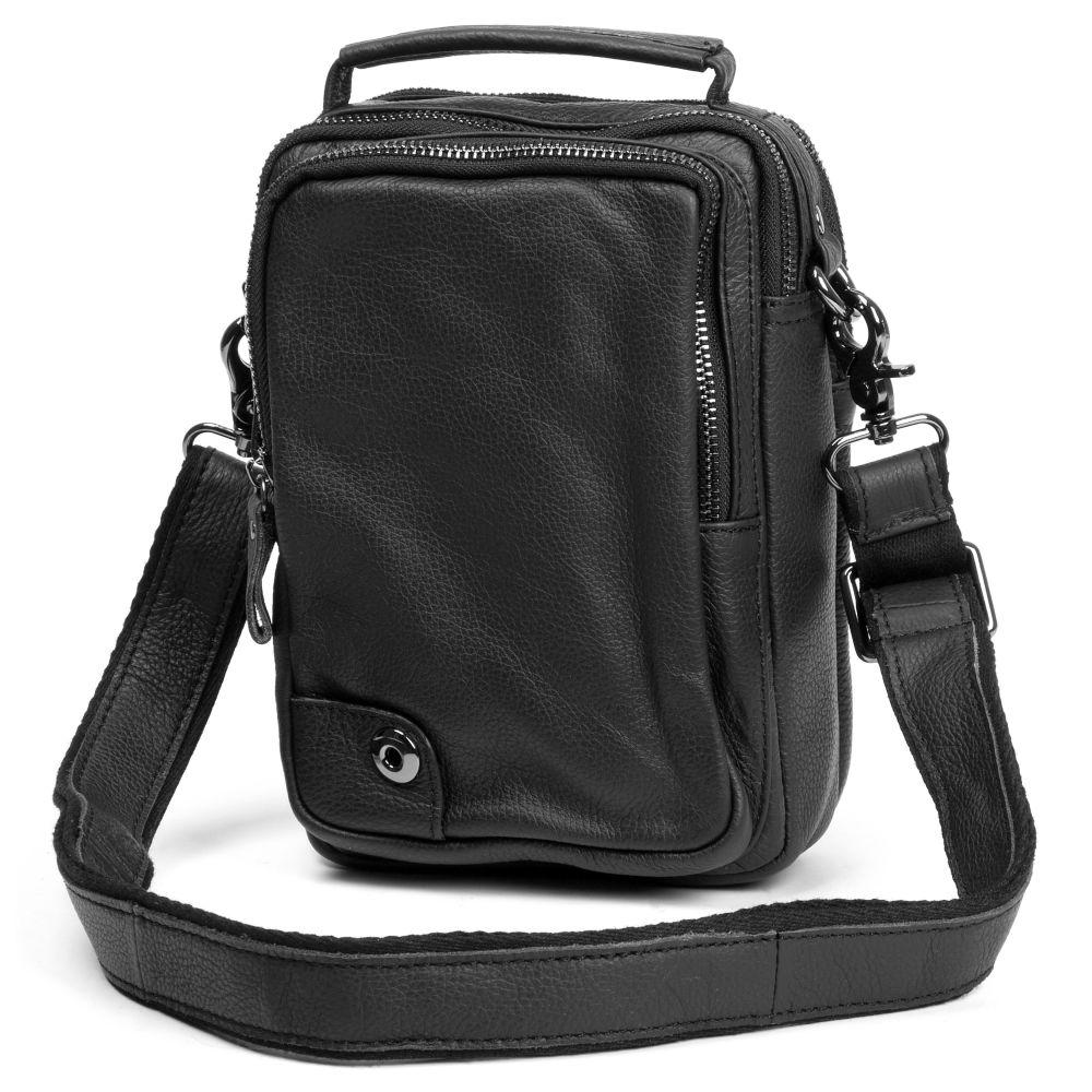 00ca5b90b9 Μαύρη Δερμάτινη Τσάντα Mini Delton