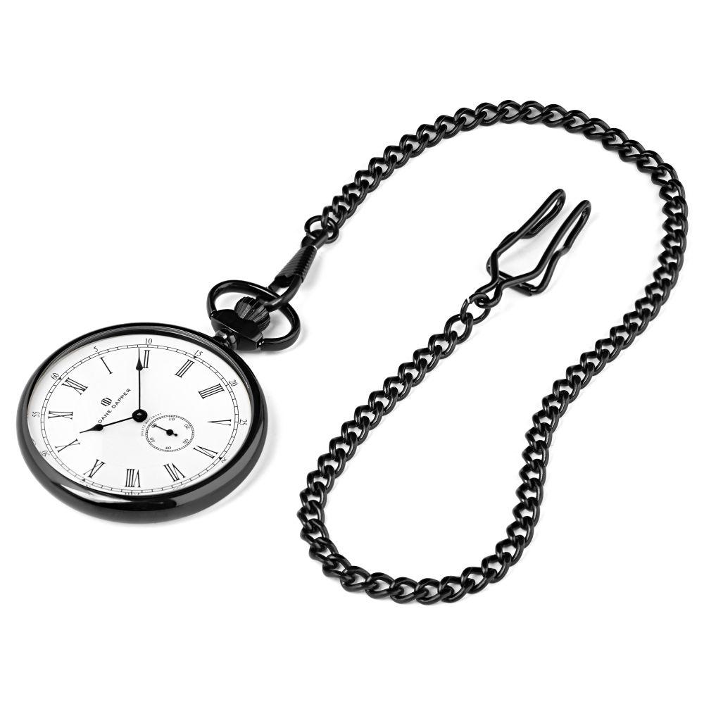 b0c7cceb151 Černobílé kapesní hodinky Time Keeper