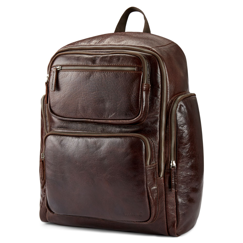 9ca3dc7a14 Καφέ Δερμάτινο Σακίδιο Πλάτης (Backpack) California