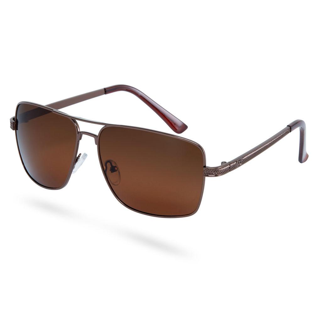 Polarized Γυαλιά Ηλίου Τετράγωνα Coffee Brown  df879b5c17e