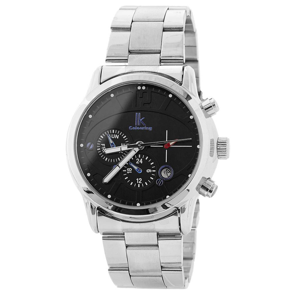 0c9f8036ee68 Reloj plateado ultra moderno
