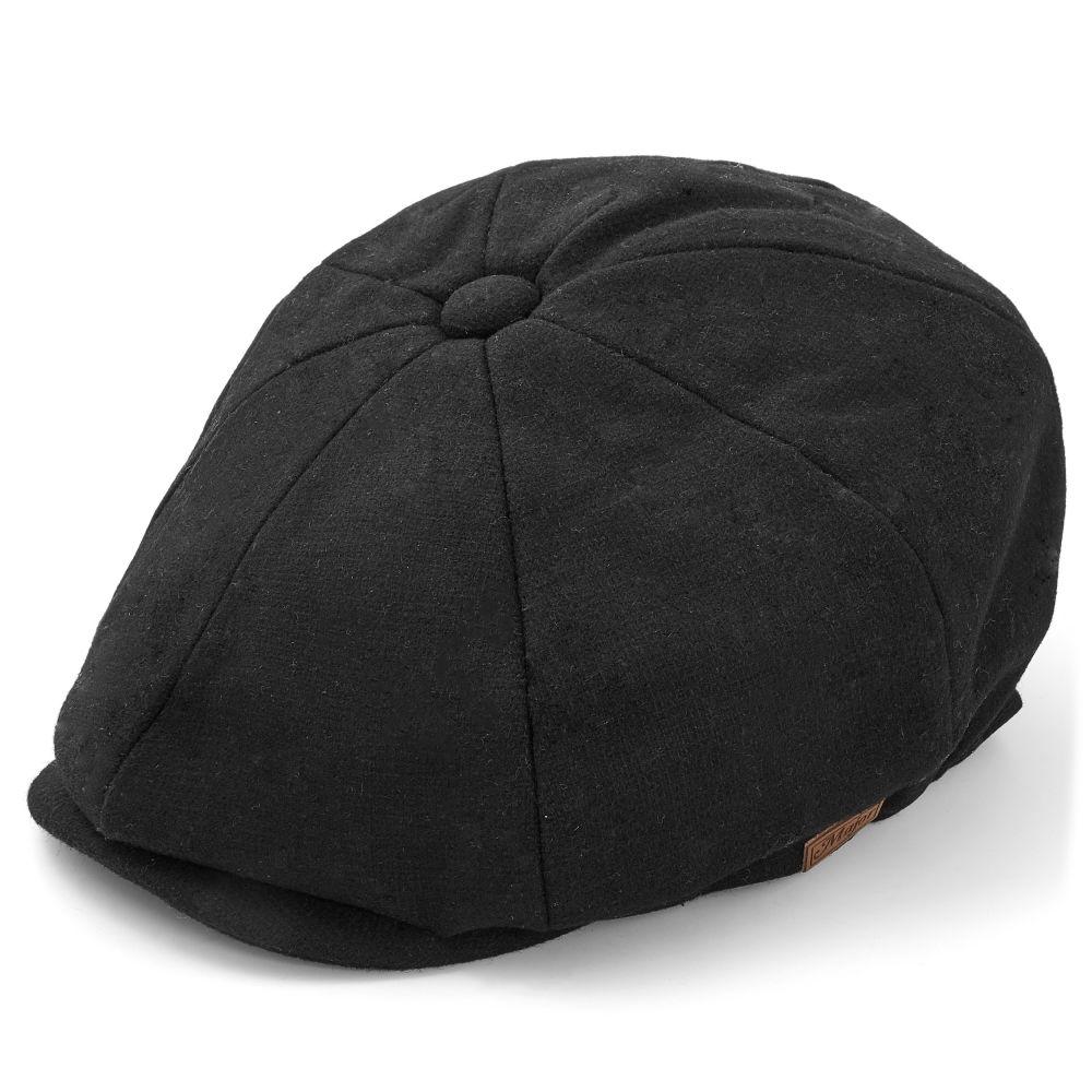 ab0b3195f31ee Black Newsboy Cap