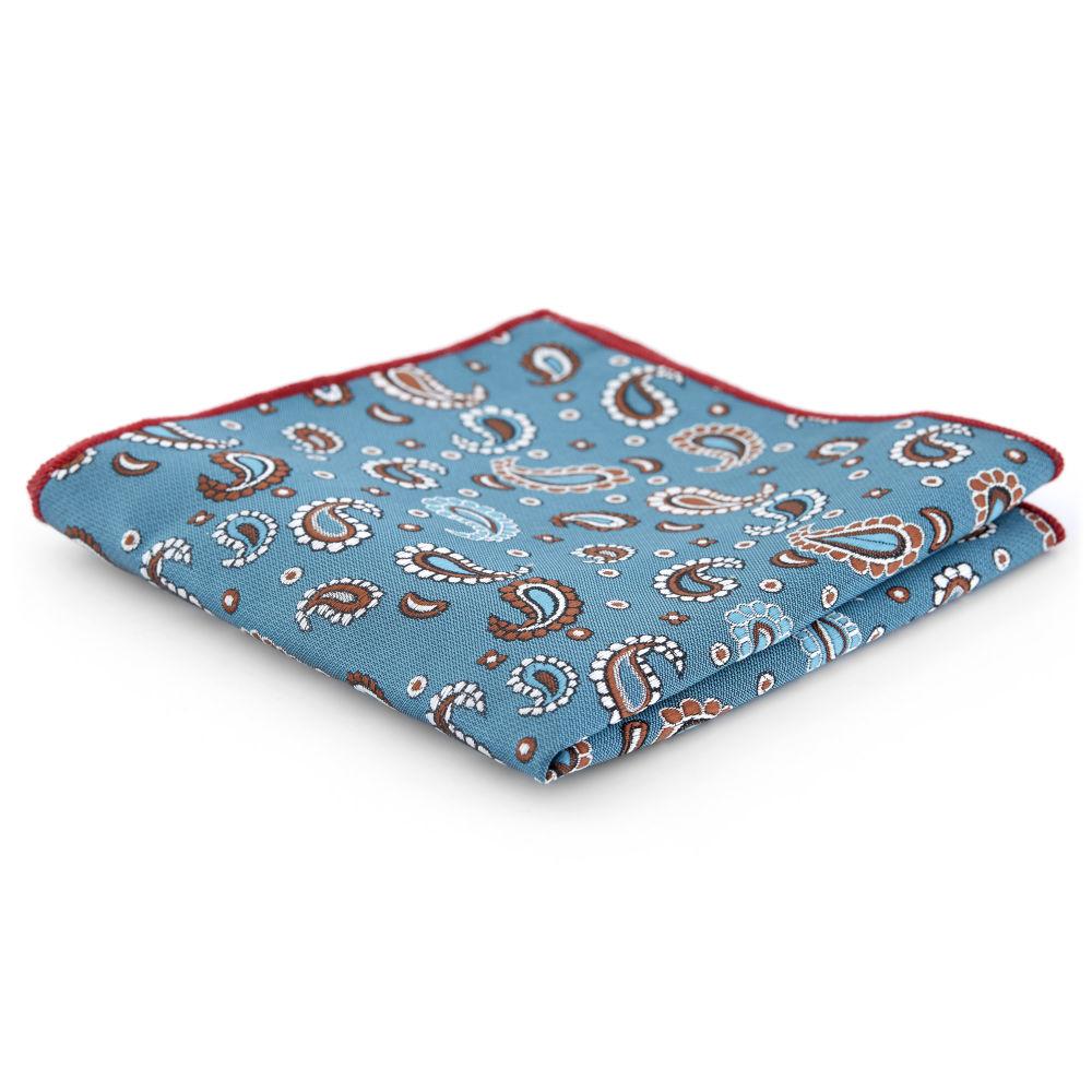 3f545022590 Pañuelo de bolsillo con estampado cachemira turquesa claro | ¡En ...