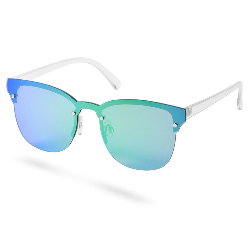 Kék-zöld irizáló lencsés és keretes browline napszemüveg  6182aa378b