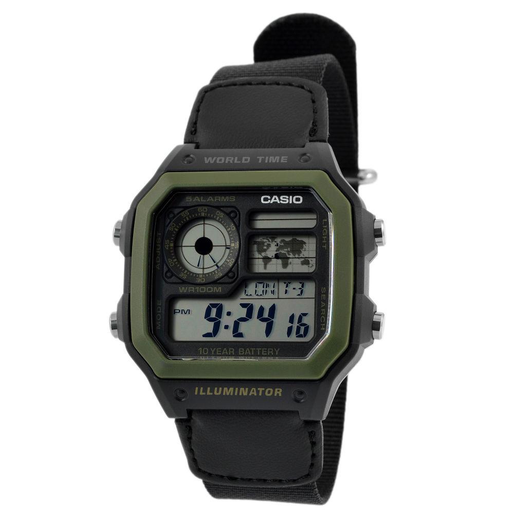 38fa965d1e85 Reloj Casio retro verde militar