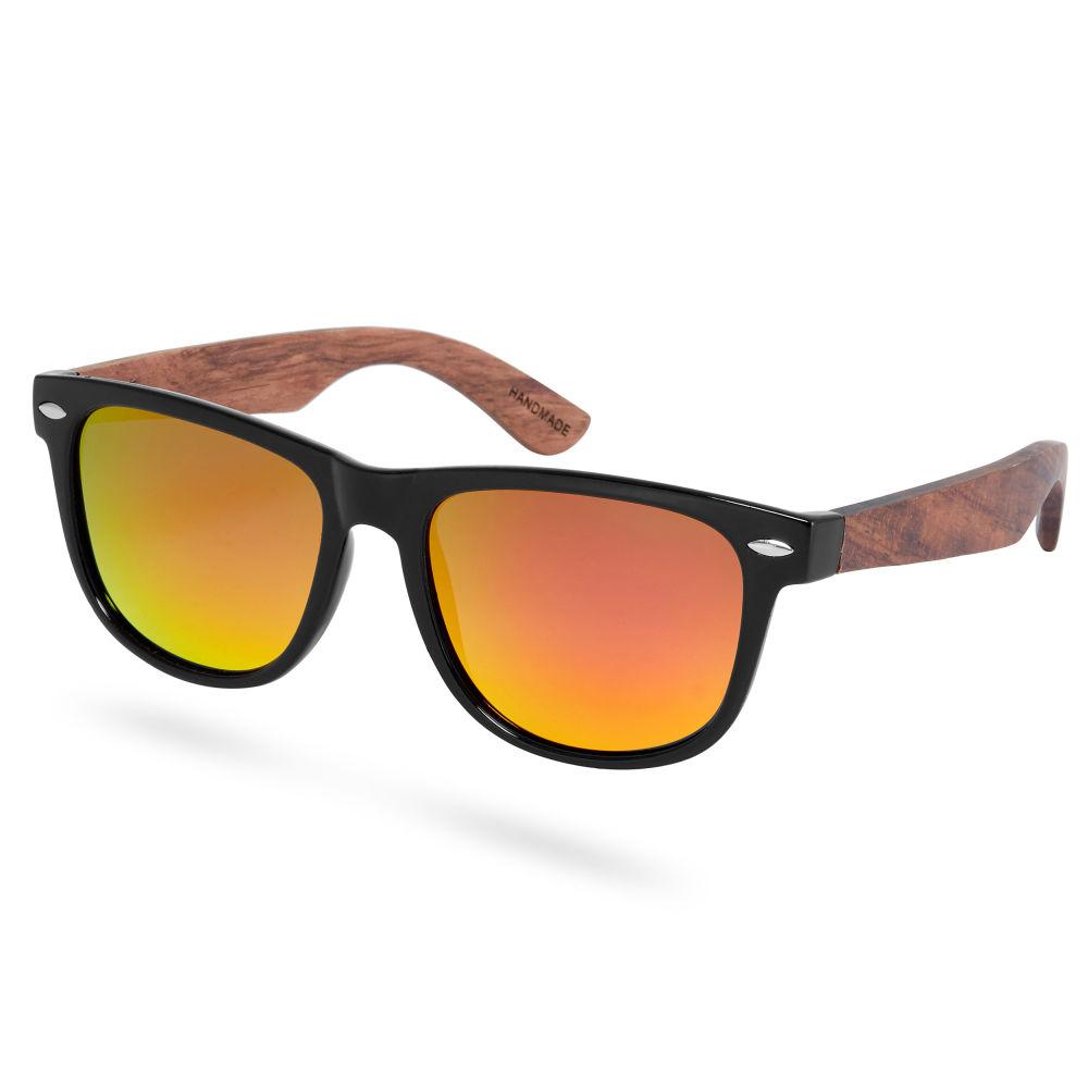 c73c30d29 Čierne polarizačné slnečné okuliare s nožičkami z ružového dreva ...
