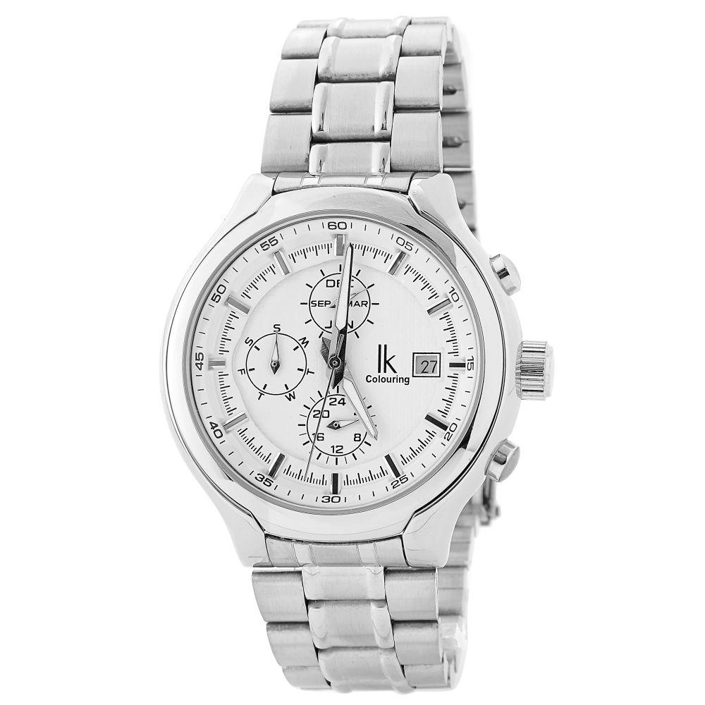 Klasszikus ezüstszínű óra  fc528104cd