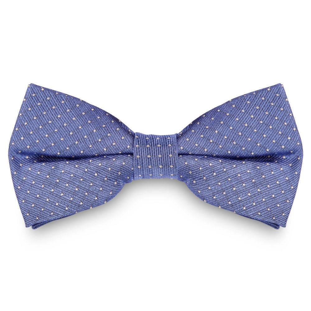 Papillon blu pastello in seta con fantasia a pois  7a49d50c201a