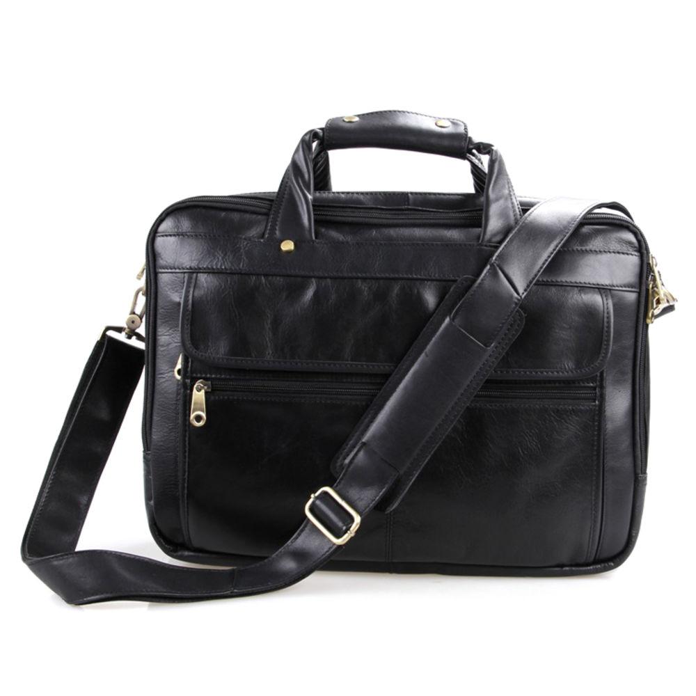 c8e814b307f Compacte zwart lederen aktetas   Gratis verzending   Delton Bags
