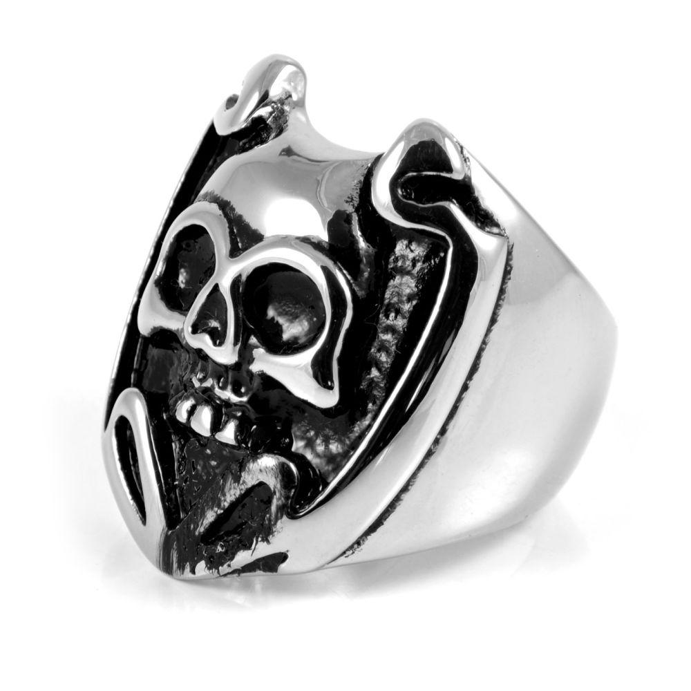 Ατσαλένιο Δαχτυλίδι Dark Shield Skull  266bd55c6d0