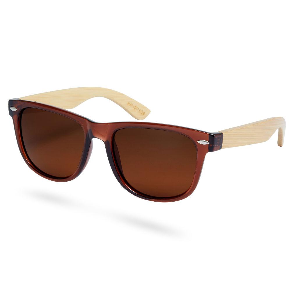 Hnedé bambusové polarizačné slnečné okuliare  fd60894715a