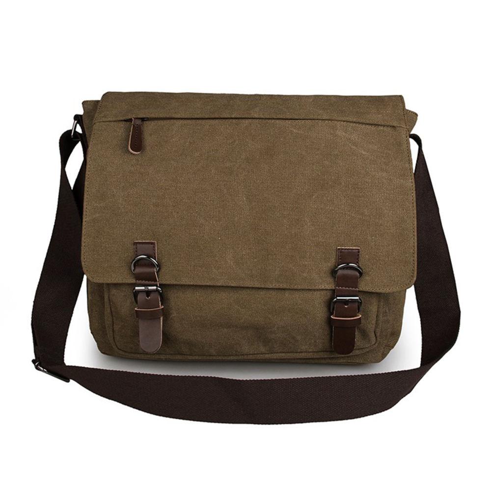 Πράσινη Χακί Τσάντα Ταχυδρόμου από Καμβά  a54ba7fe2e5