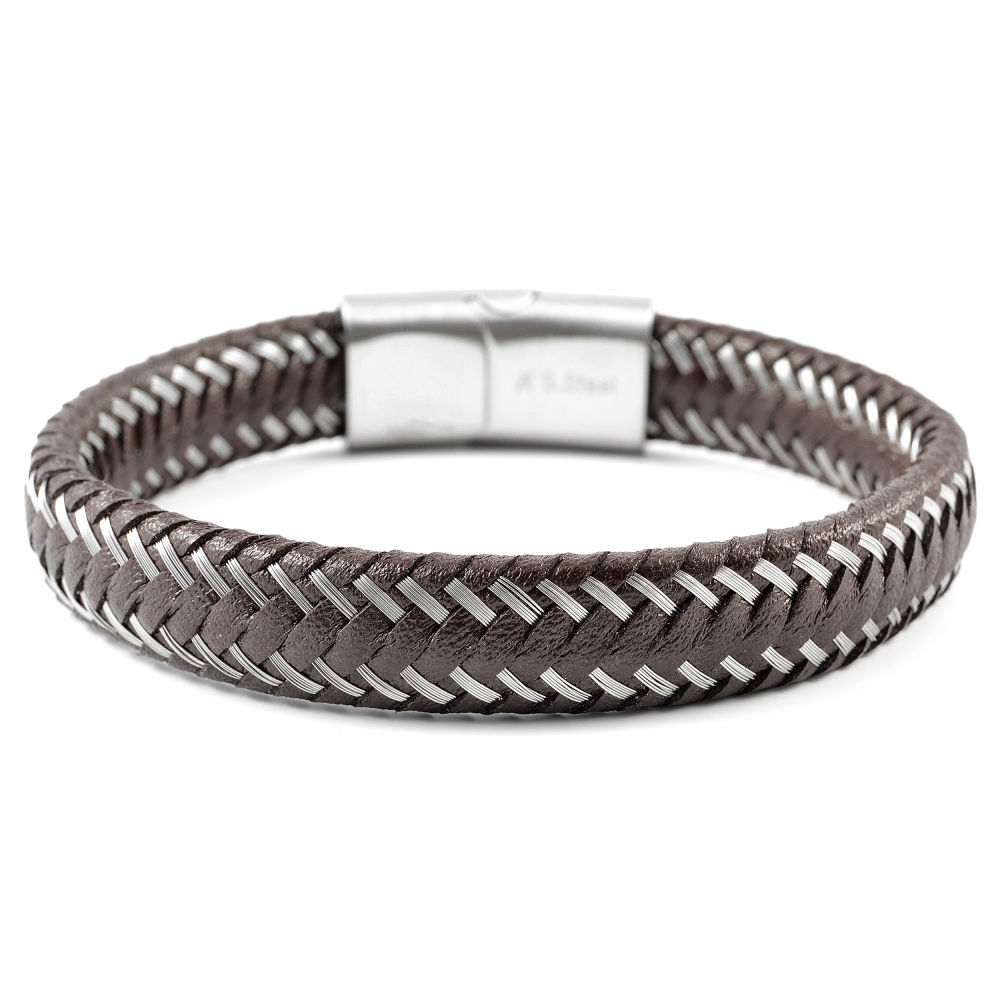 91dc4eb1956 Unieke gevlochten Leren Armband | Op voorraad | Fort Tempus