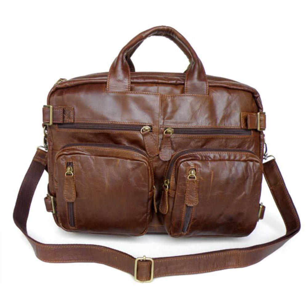 674522b5fa5d Hnedá viacúčelová kožená taška Tenor