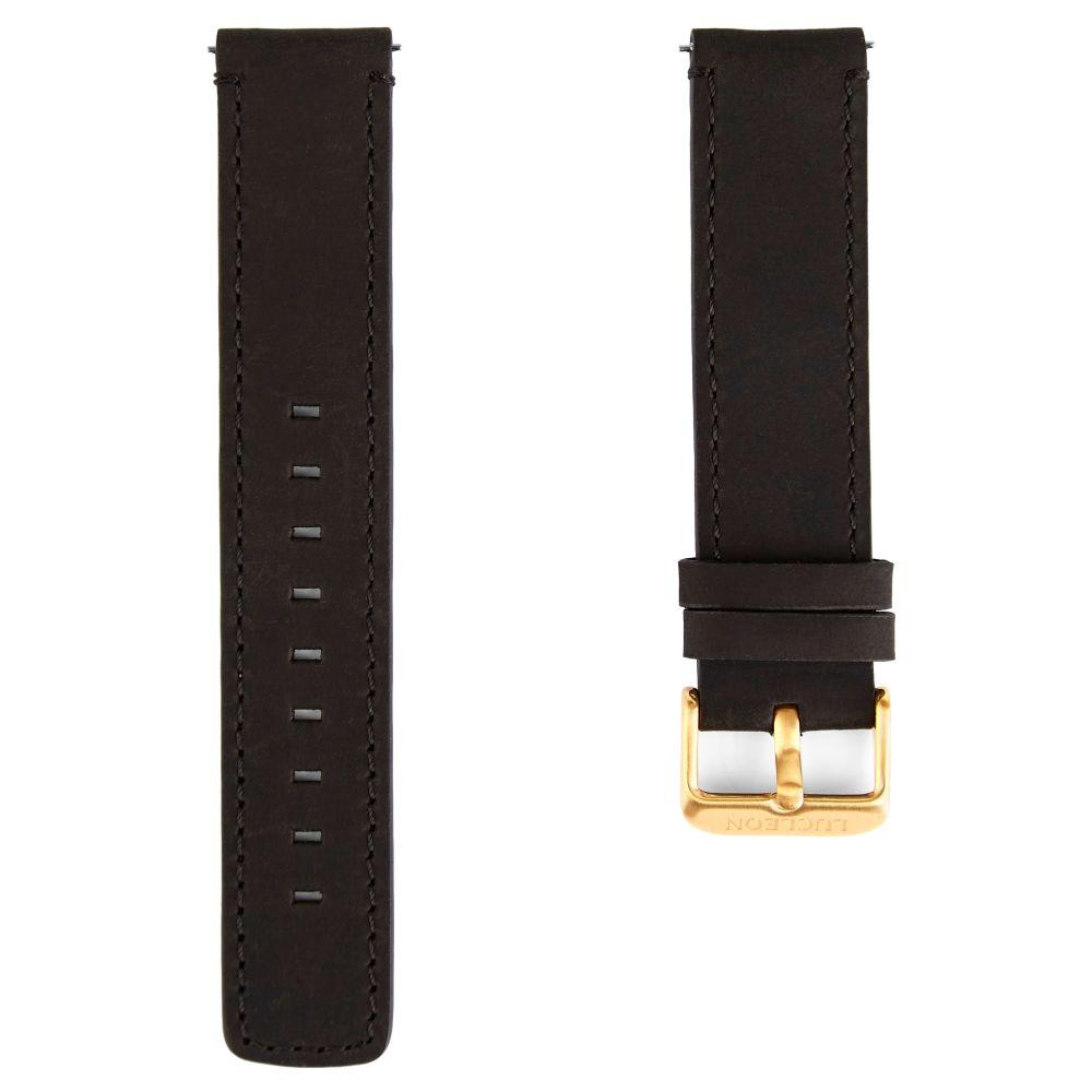 Čierny a zlatý remienok na hodinky s čiernym prešívaním  4ce8244a05e