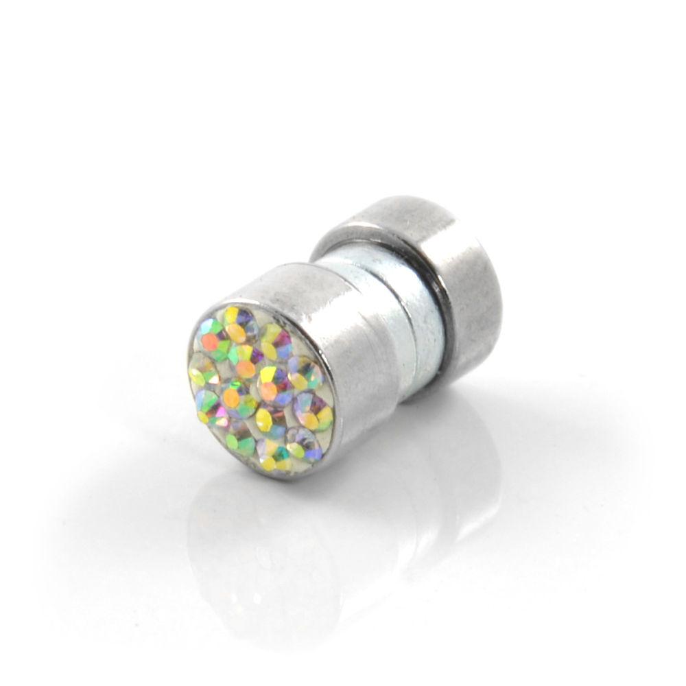 6mm Barevná zirkonová magnetická náušnice  31f0da95760