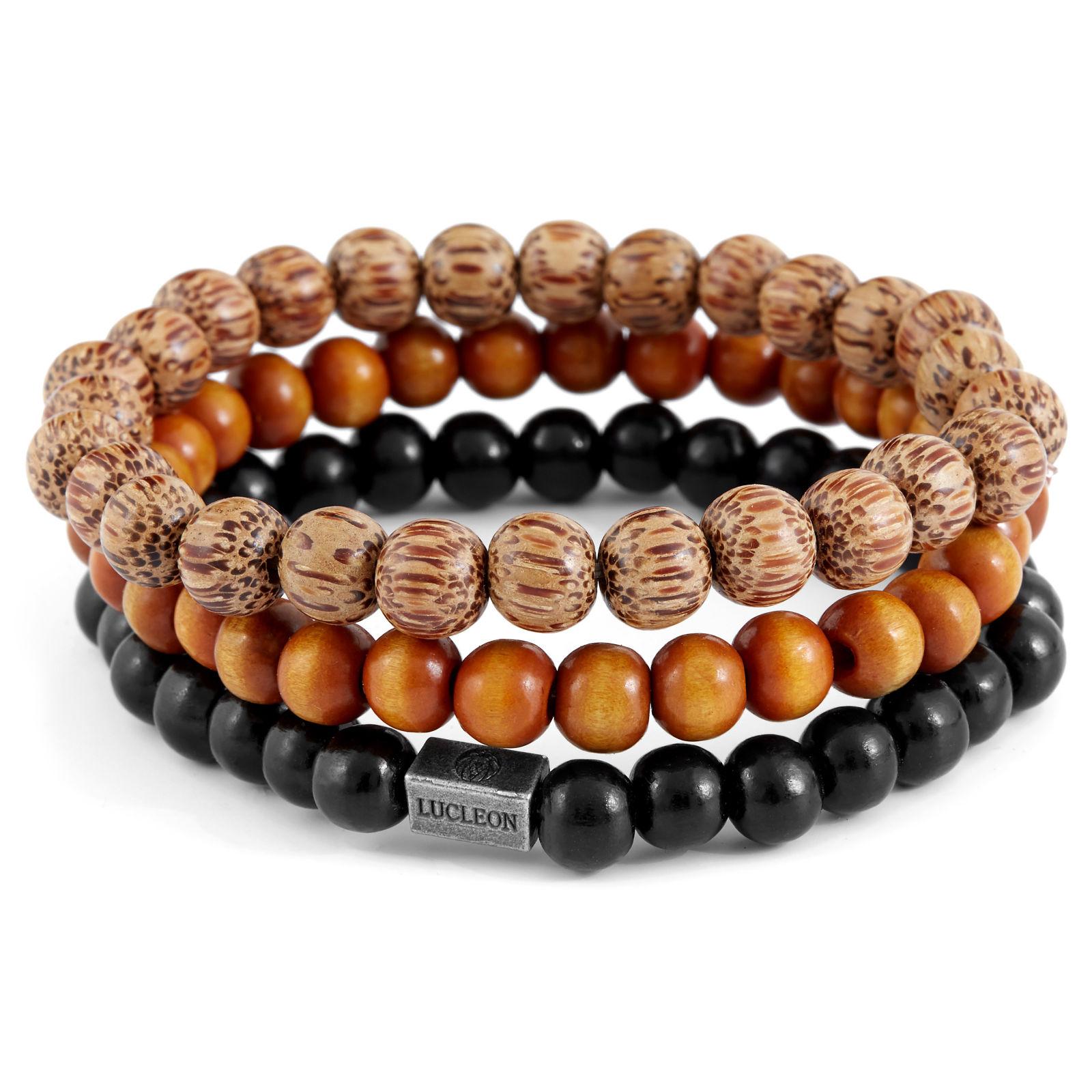 Voorkeur Zwarte en Bruine Armband | Lucleon | Op voorraad @WF01