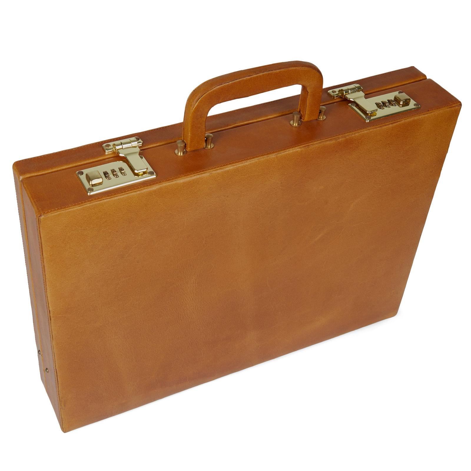 Porte-documents en cuir marron Bucko