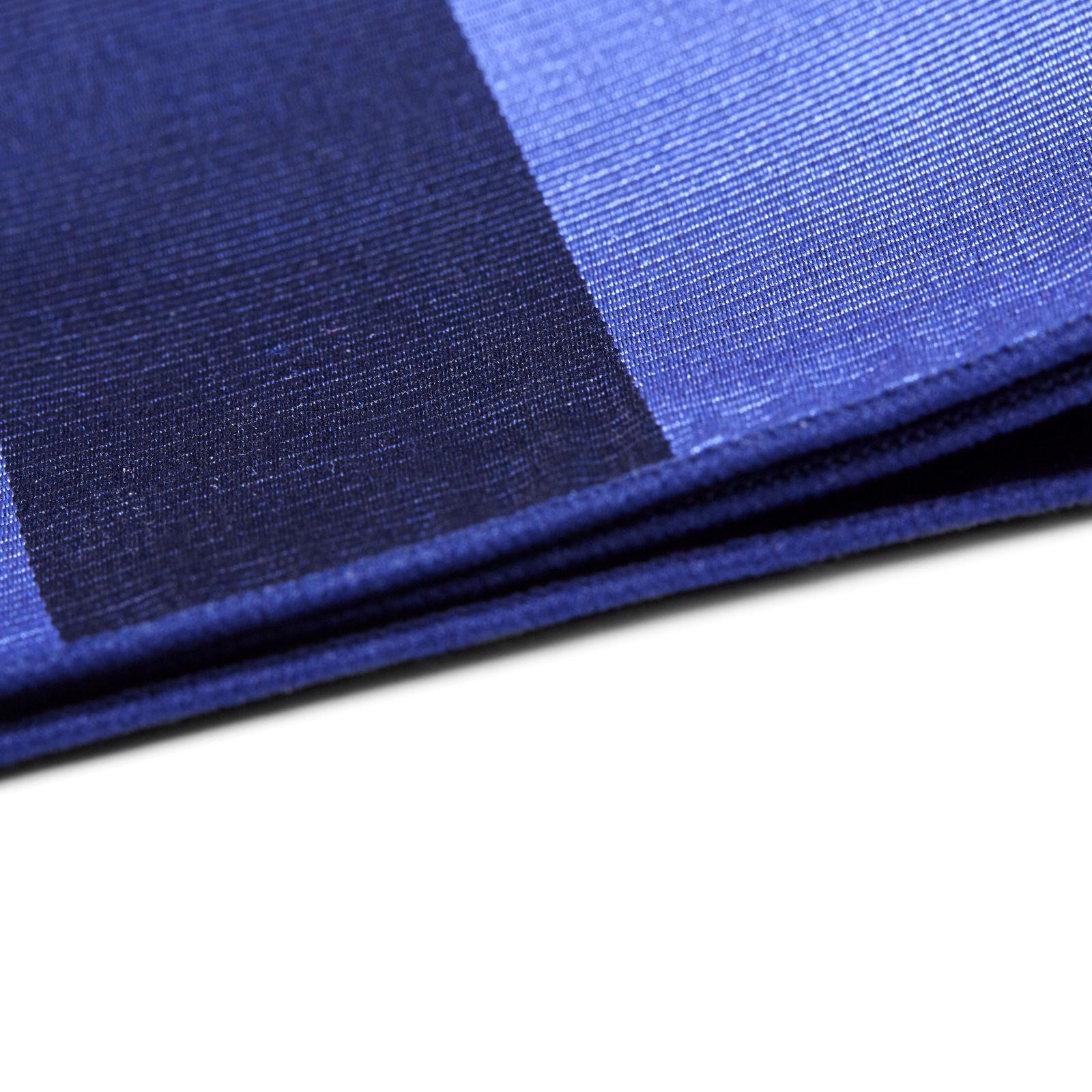 fd9bac6917be Τετράγωνο Μαντήλι Τσέπης Μεταξωτό Ριγέ Pastel Blue   Navy