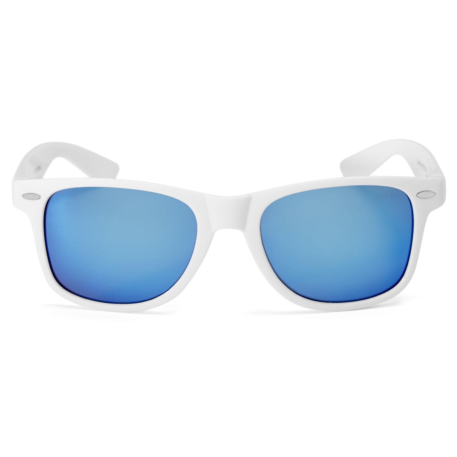 Dinamikus kék lencsés napszemüveg fehér kerettel  9cbd2b2202