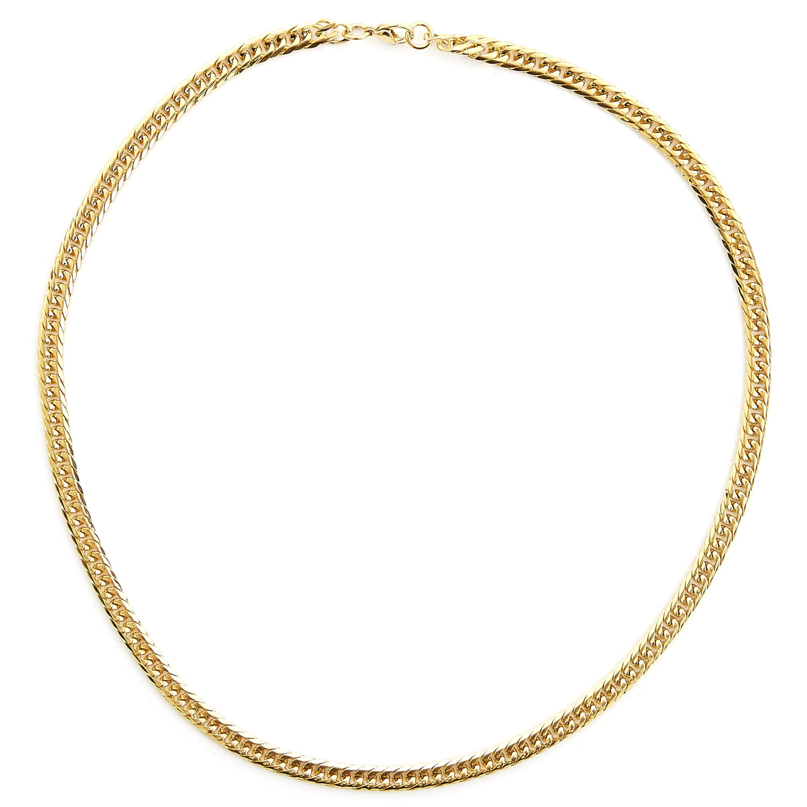 10mm Gold-Toned Chain Necklace Trendhim