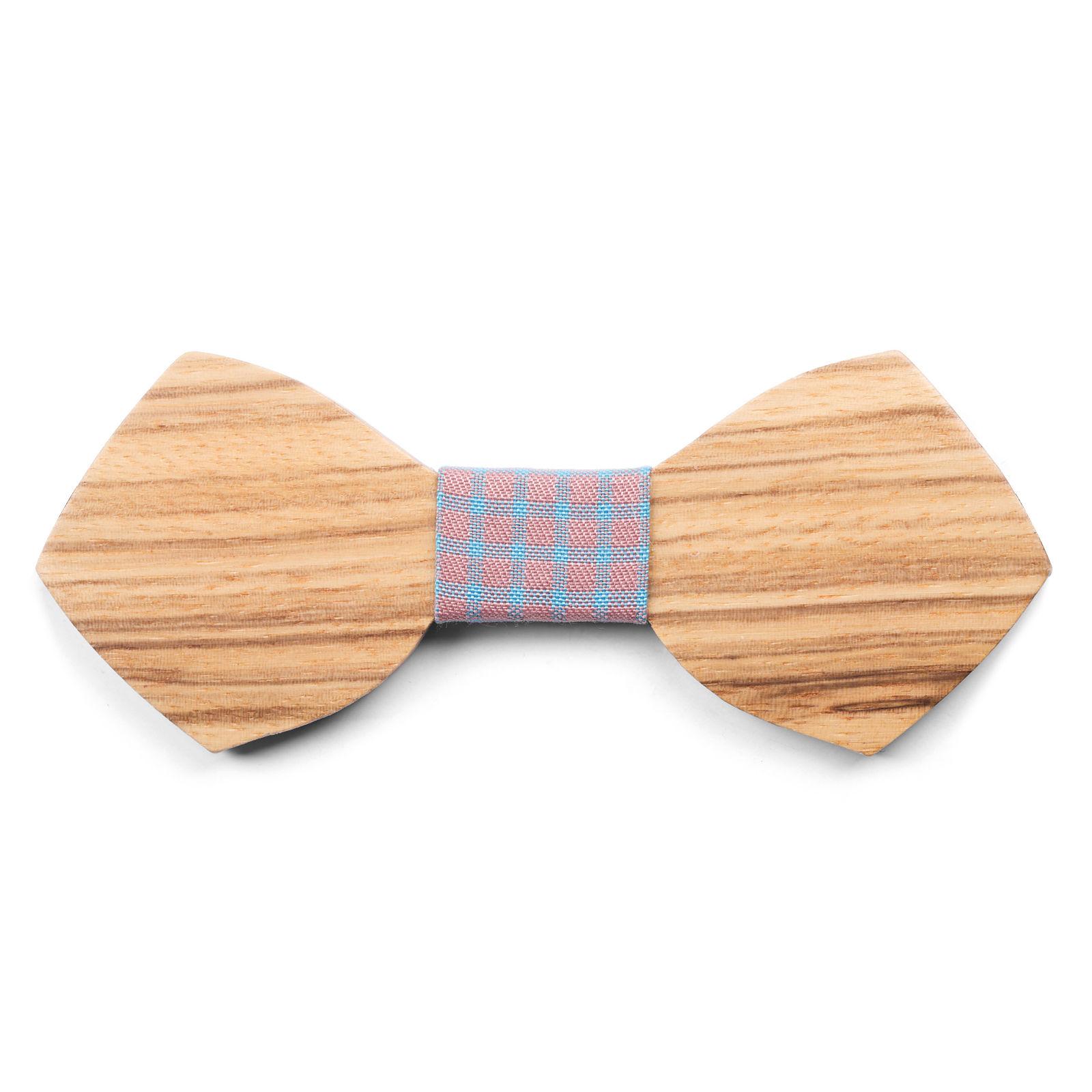 Noeud papillon forme fl che en bois de z bre port gratuit trendhim - Trend corner frais de port gratuit ...