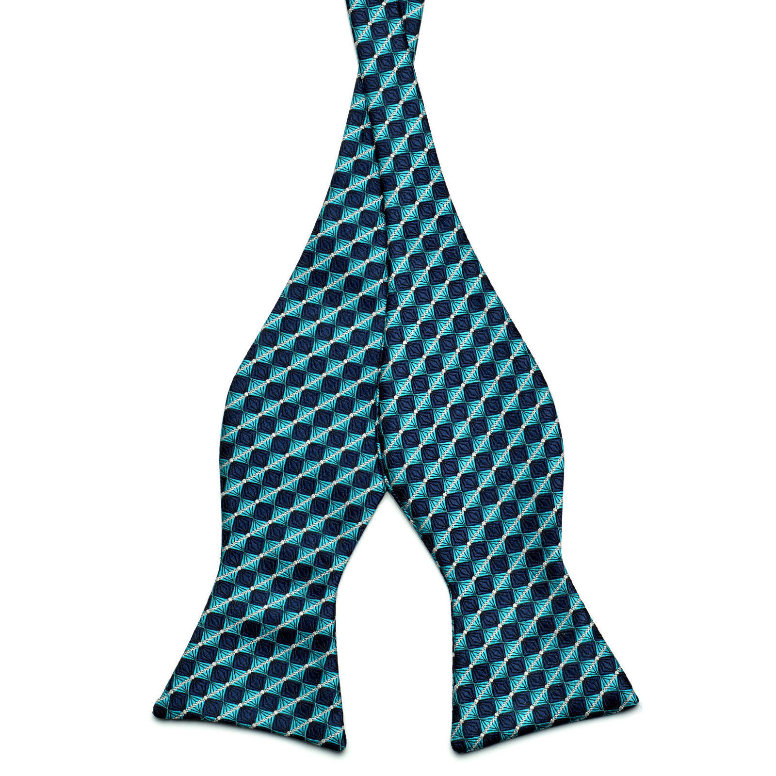 1388744f894b Turquoise / Navy Self-tie Bow tie | In stock! | Tailor Toki