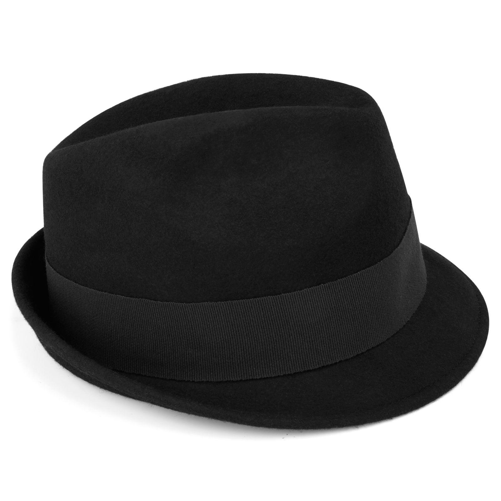 Černý klobouk Fedora Kurt  739739dc57