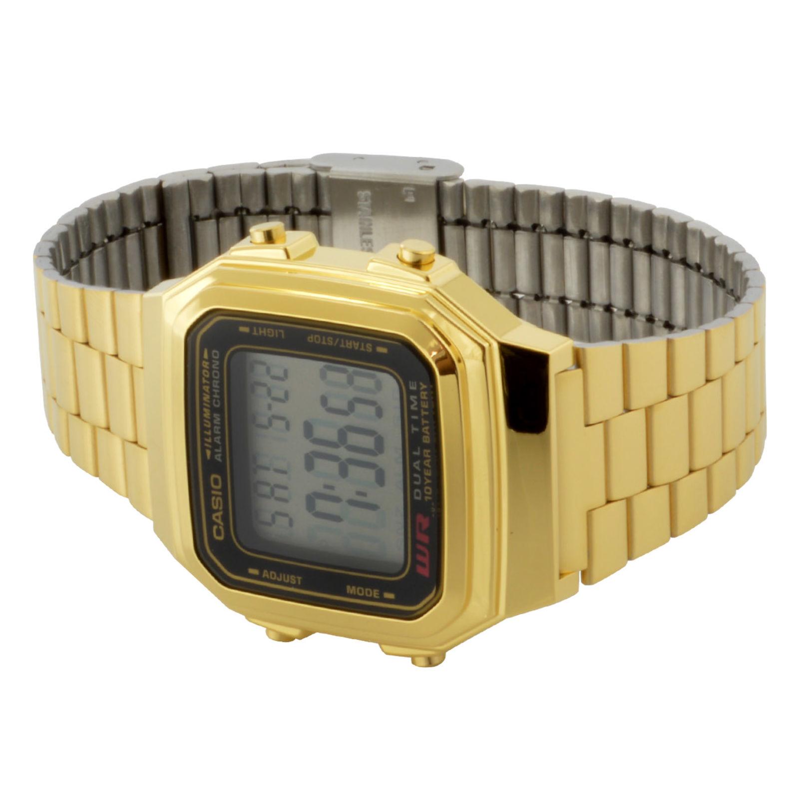 c3c6a425ef98 Reloj Casio retro dorado multifunción