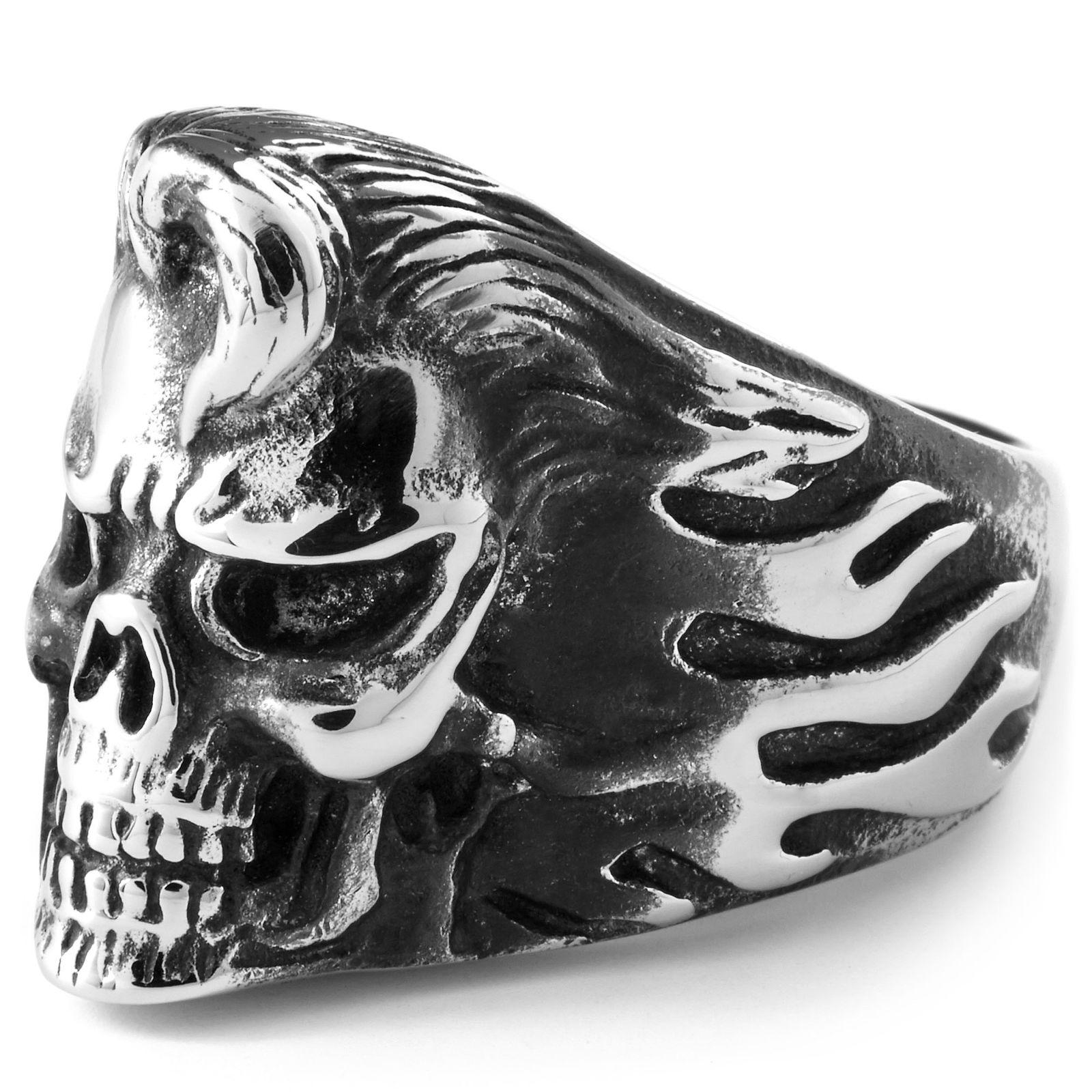 Ατσαλένιο Δαχτυλίδι Elvis Skull  61f35c49b07