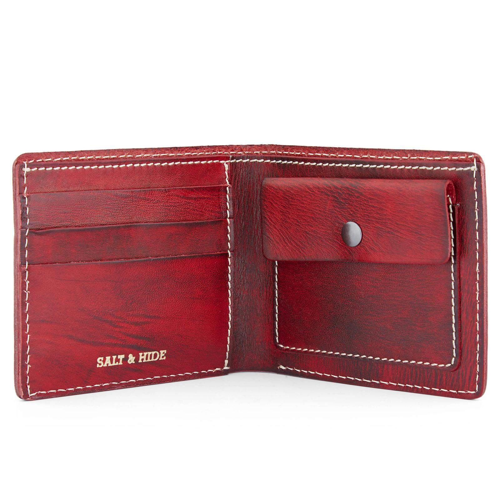 d22ed1668a Κόκκινο Δίπτυχο Δερμάτινο Πορτοφόλι Dermot