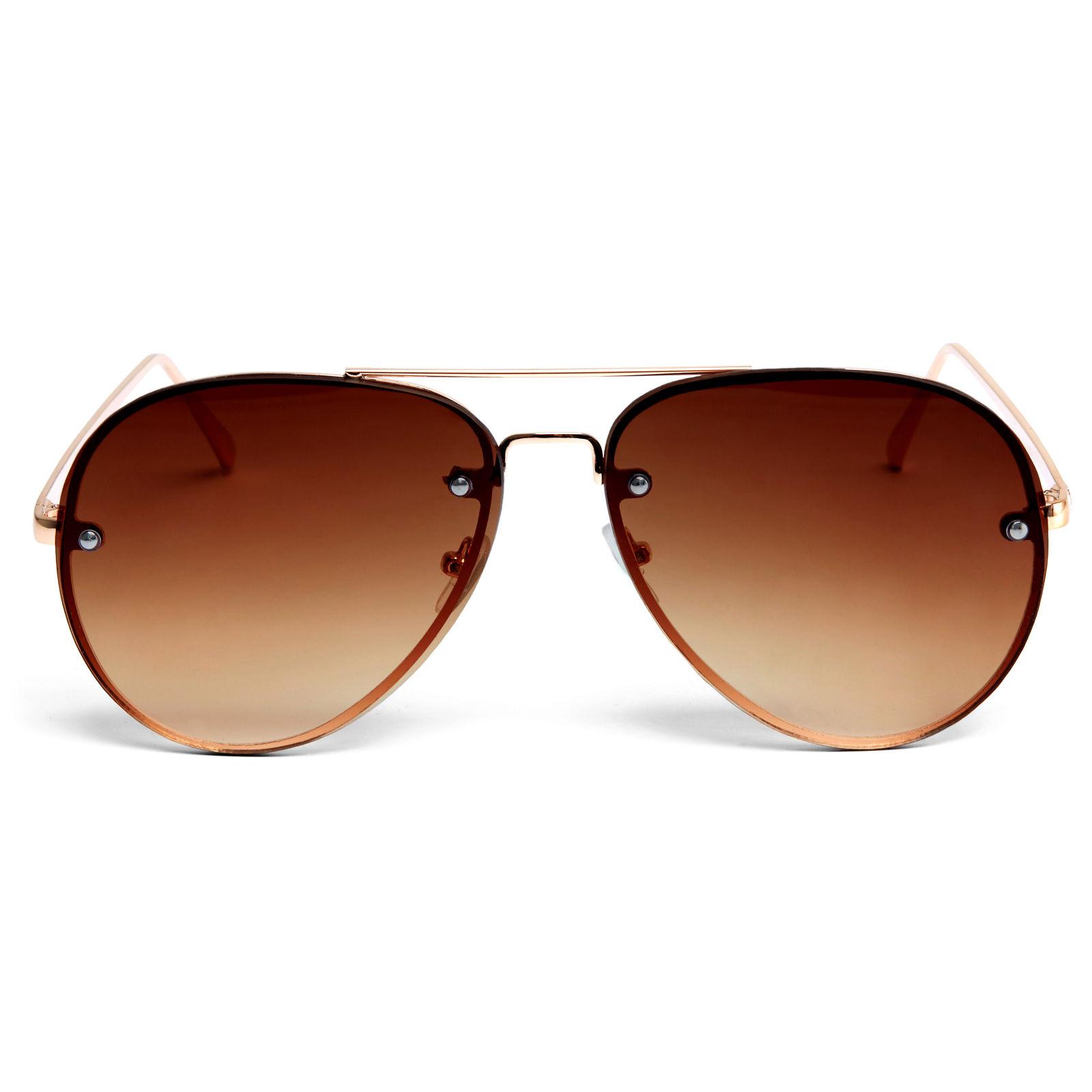 Barna és aranyszínű pilóta napszemüveg  a8e6b455a6