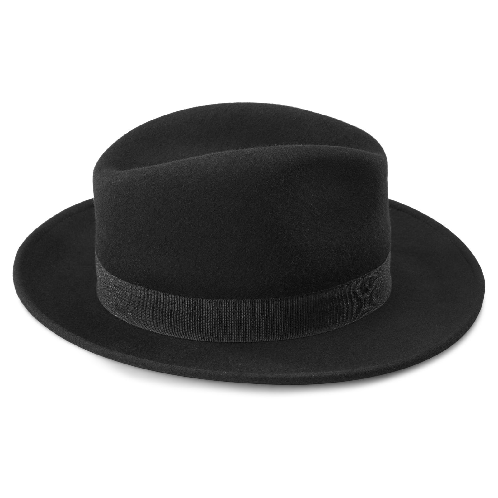 Černý vlněný klobouk Fedora Alessandria Fido  ec91c5431e