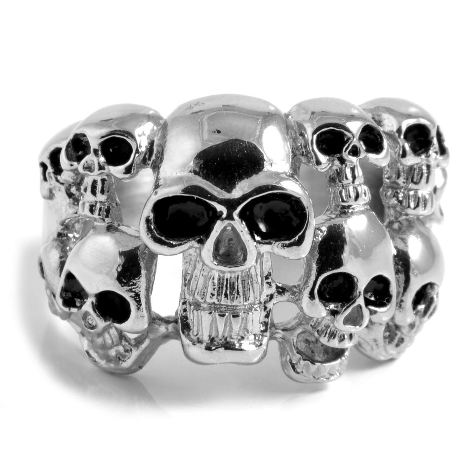 Ατσαλένιο Δαχτυλίδι Multi Skeleton Skull  c0d93eff2e1