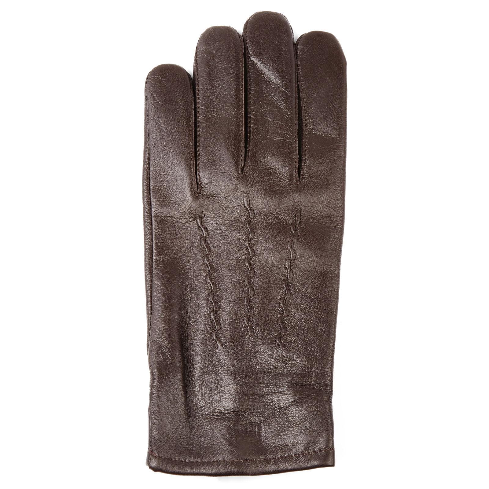45fea0453a6 Hnědé kožené rukavice