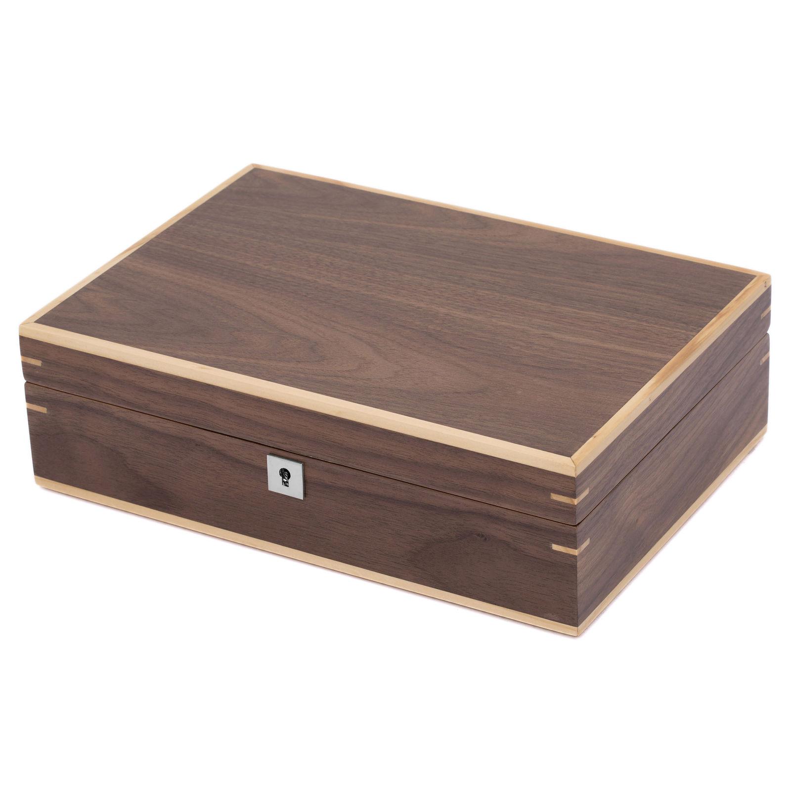 64031952e5a ... Dřevěná krabička na hodinky z ořechového dřeva - 10 hodinek