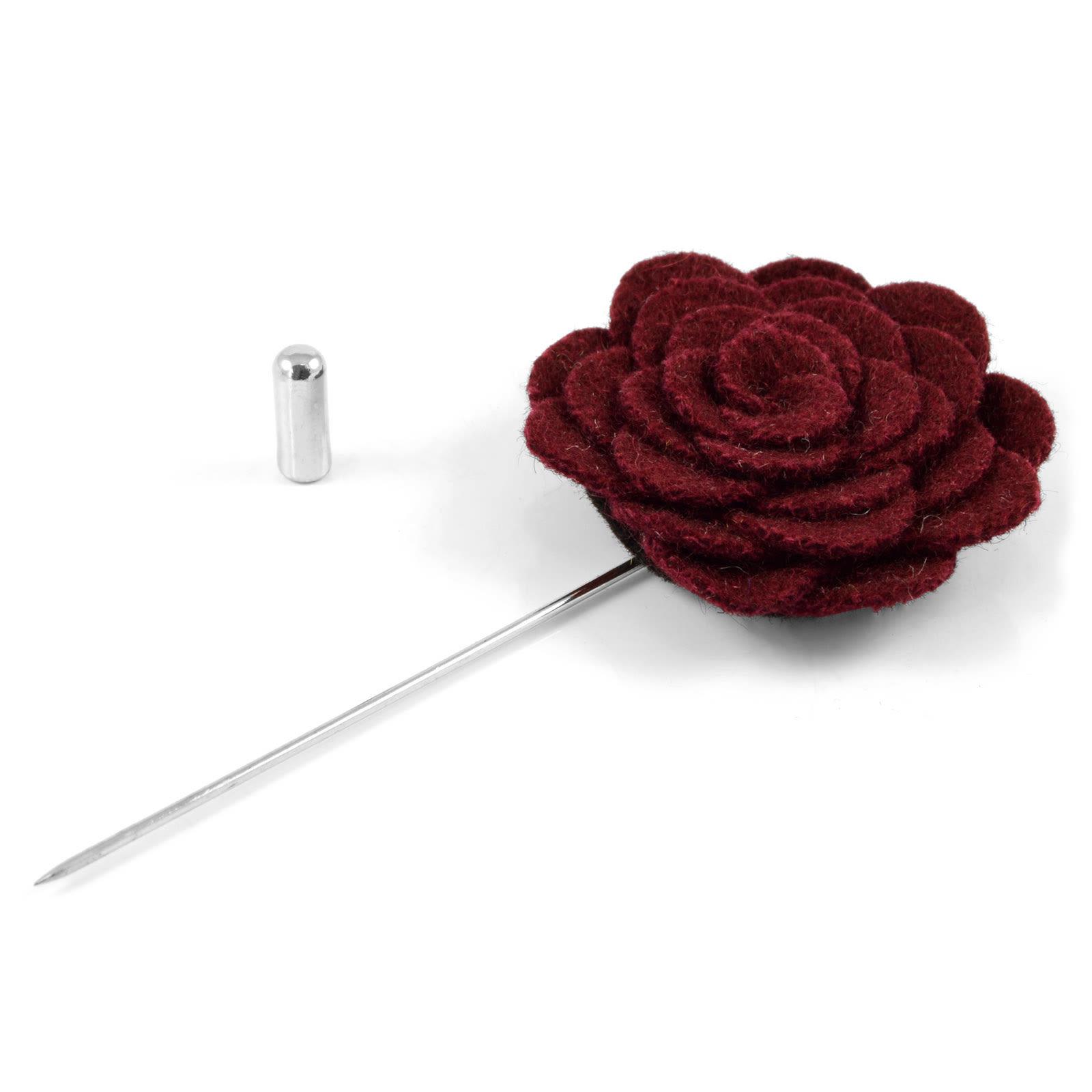 Καρφίτσα Πέτου Burgundy Rose  b972004d10c