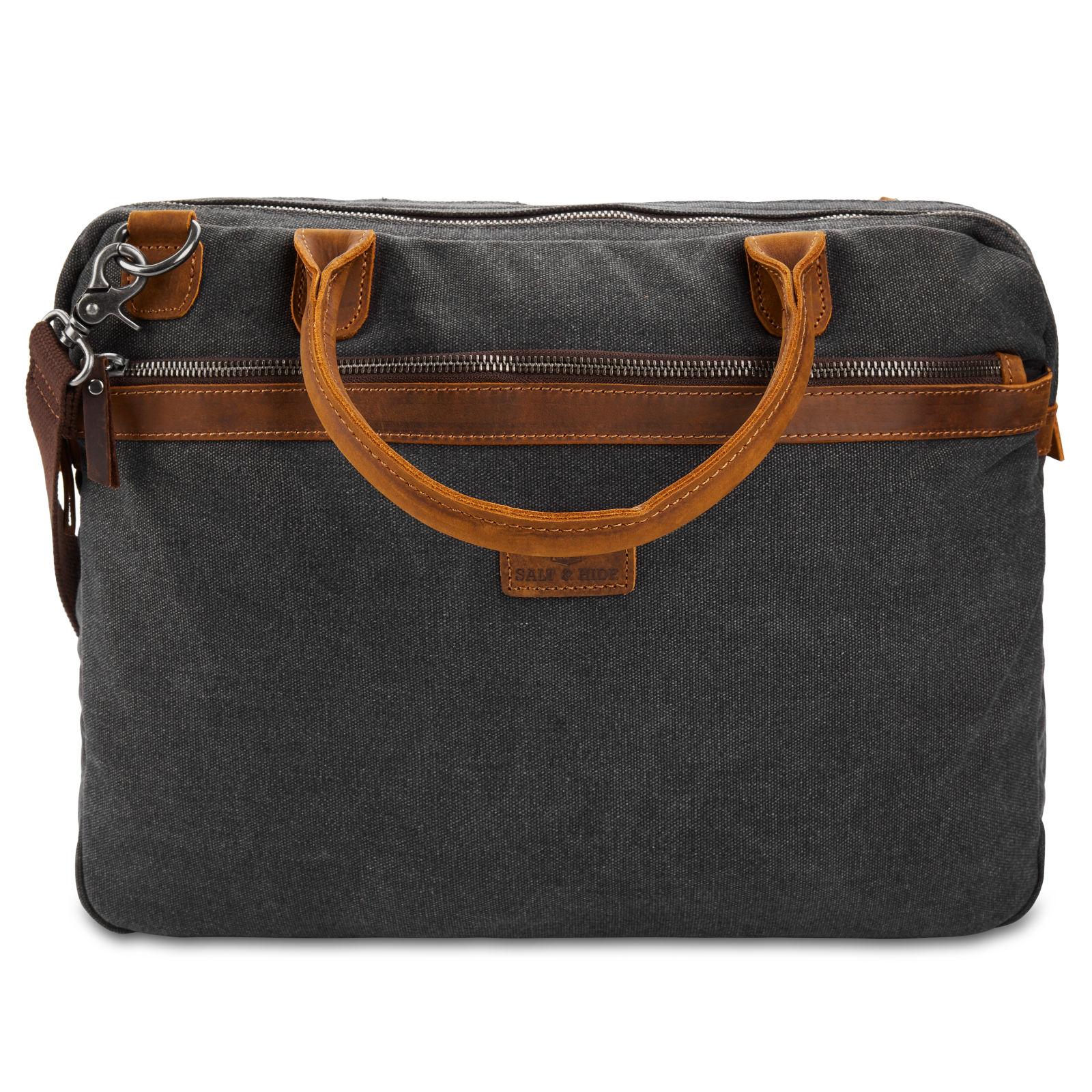 Shane Green & Brown Laptop Bag Salt & Hide