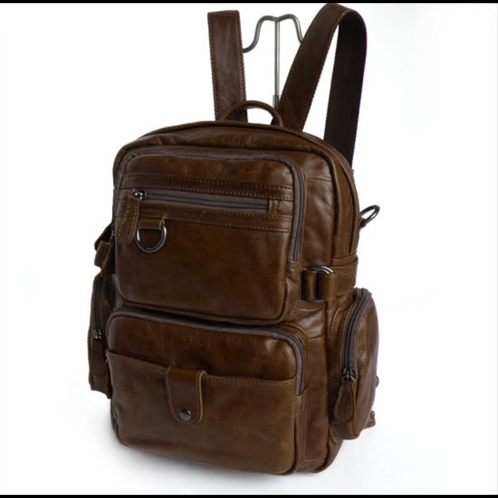 a3106ffe434c0 Vintage Leder multifunktions-Rucksack