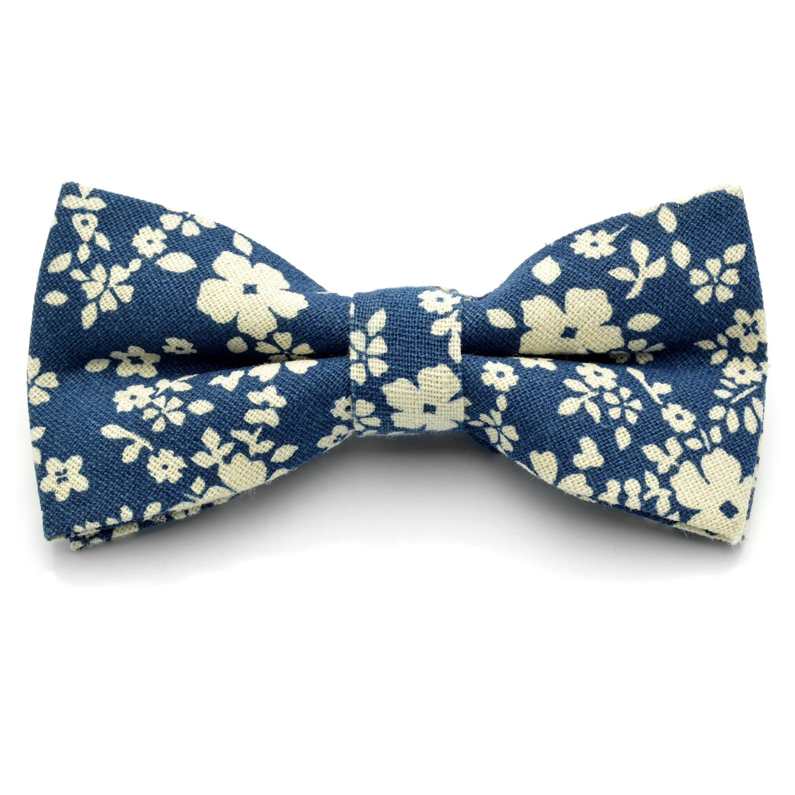 e6b6220115c2 Blue / White Floral Bow Tie | Tailor Toki | In stock!