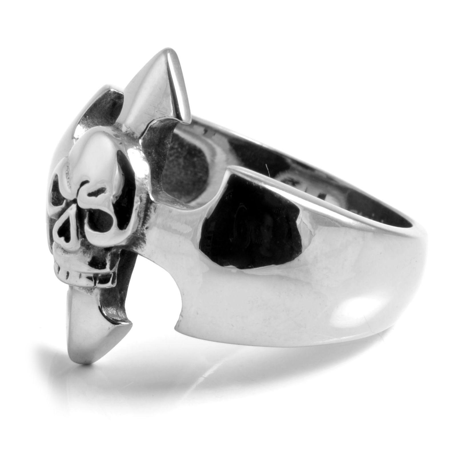 Ατσαλένιο Δαχτυλίδι Arrow Head Skeleton Skull  c3009f1911f