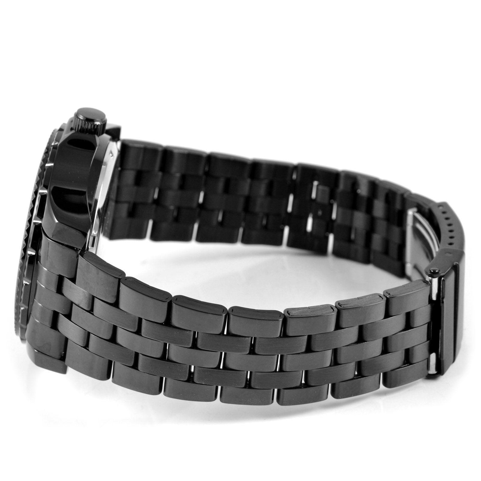 Černočerné pánské hodinky s modrou  3c3faf3eb61