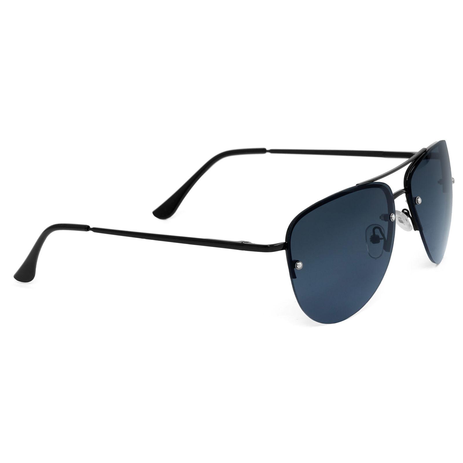 Teljesen fekete keretes pilóta napszemüveg sötétített lencsékkel ... 78a339acde