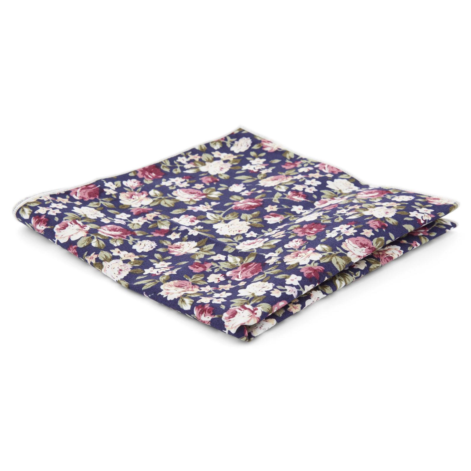 Carr de poche bleu fonce imprim floral port gratuit bohemian revolt - Trend corner frais de port gratuit ...