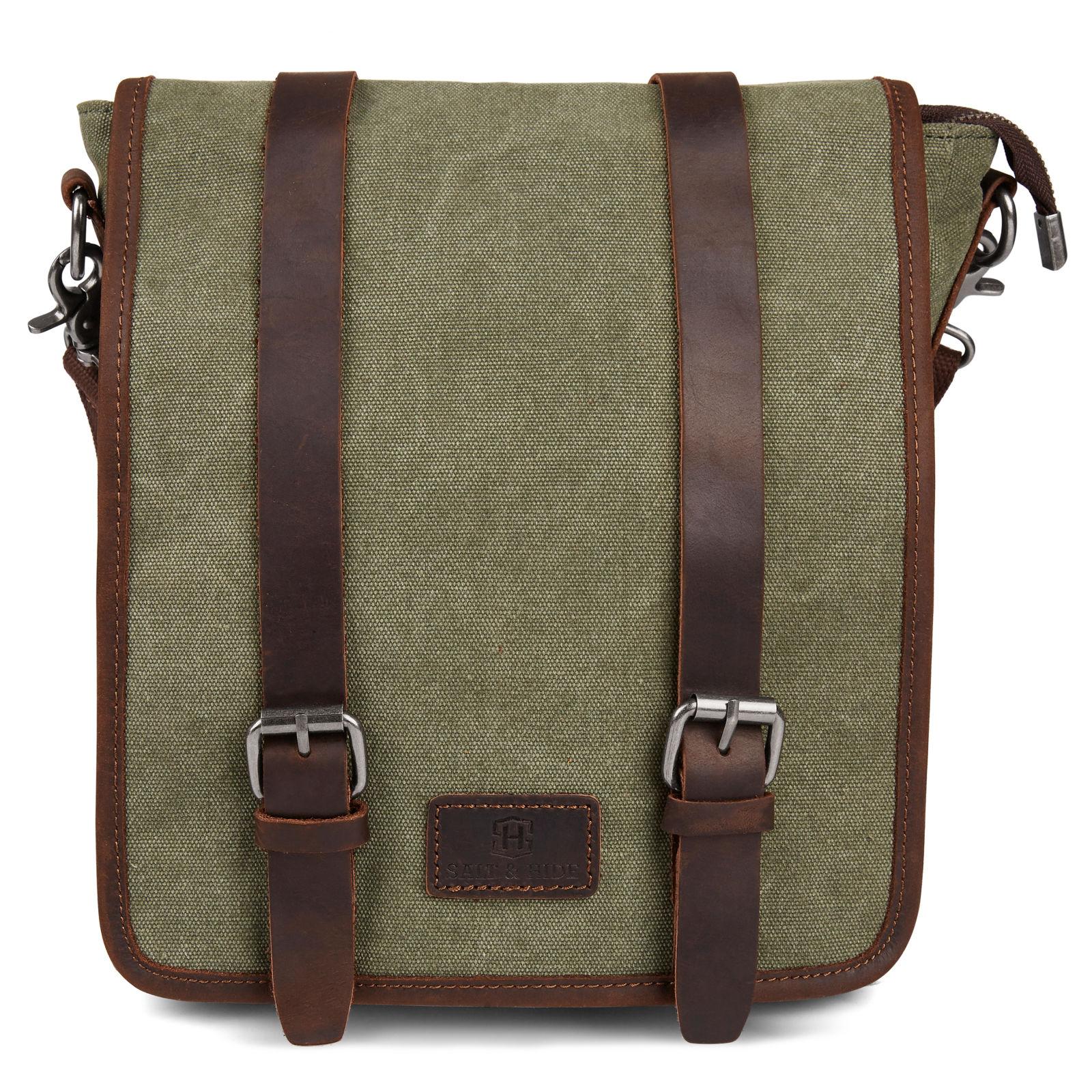 ad025f160ba Τσάντα Ταχυδρόμου (Messenger Bag) Sergio Green & Brown Slim   Γρήγορη  αποστολή   Salt & Hide