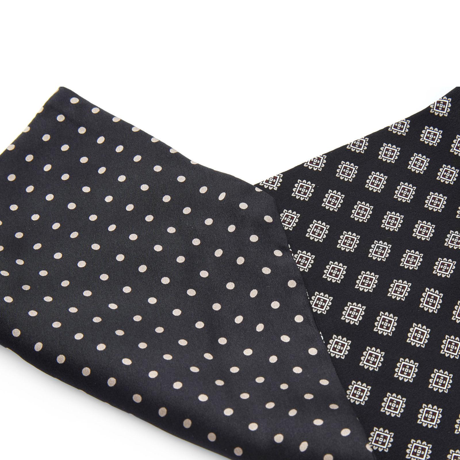 Navy Minimal Paisley Polyester Pocket Square Trendhim