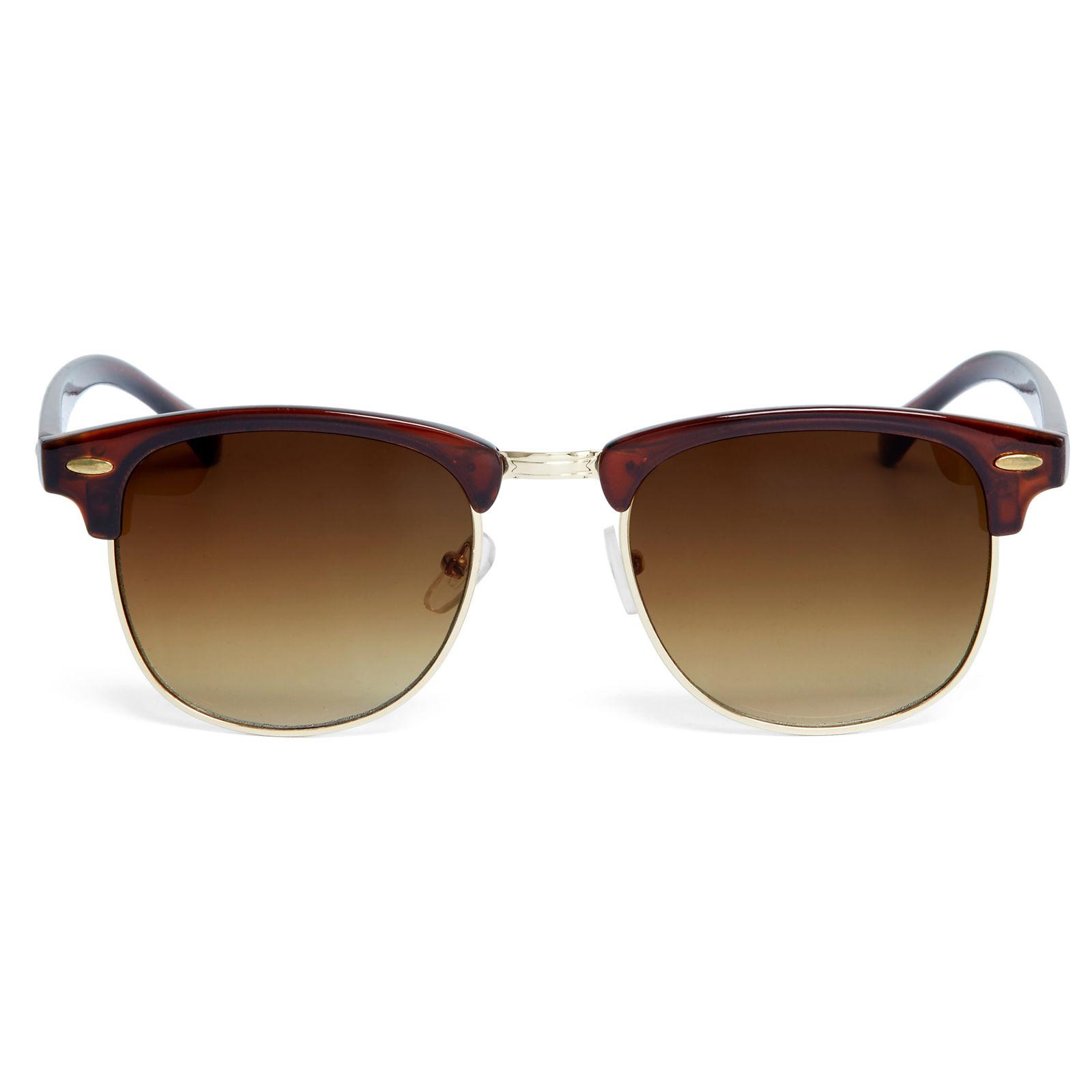 Barna vastagított keretes napszemüveg többárnyalatú lencsékkel ... 2138df584c