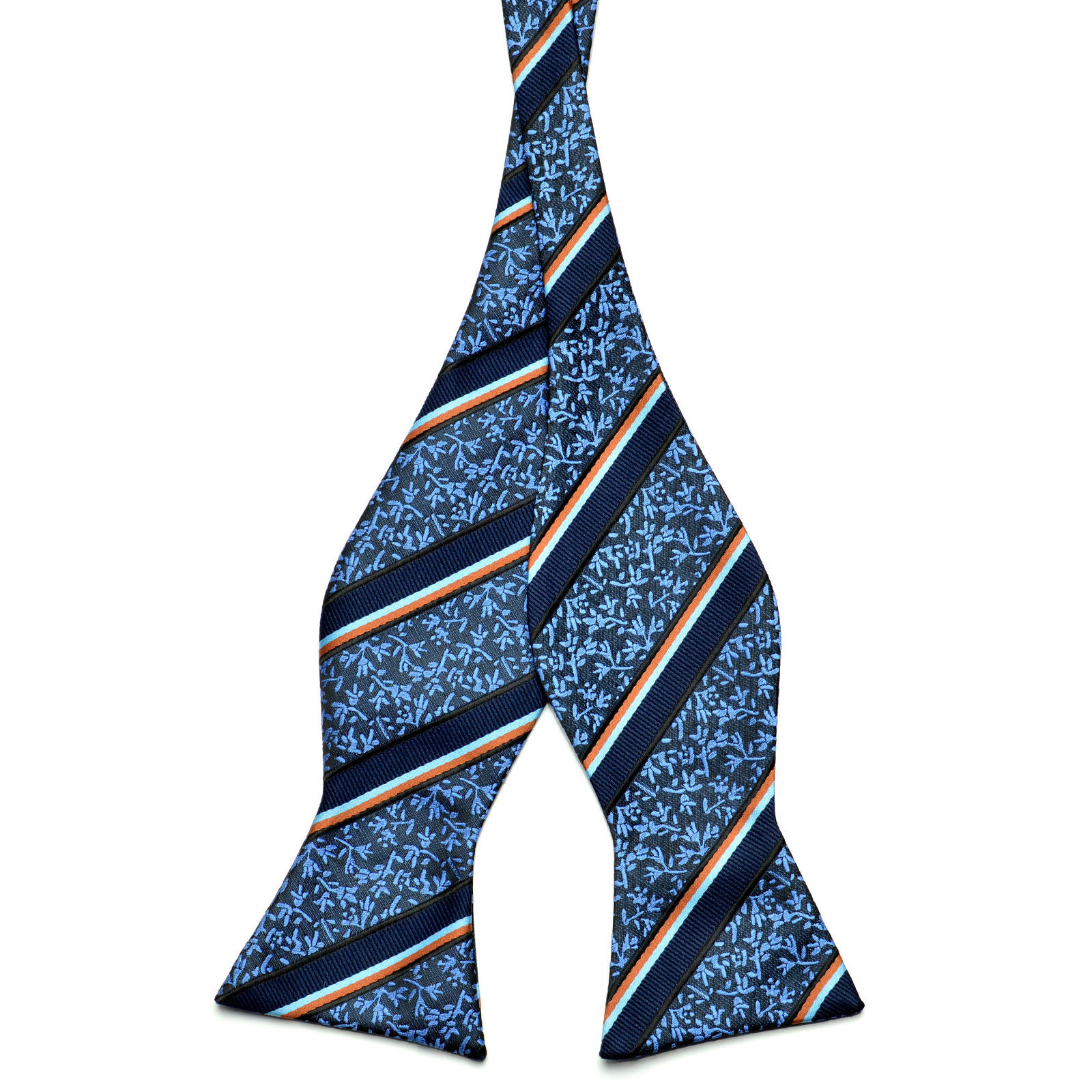 Blue Retro Patterned Bow Tie Trendhim