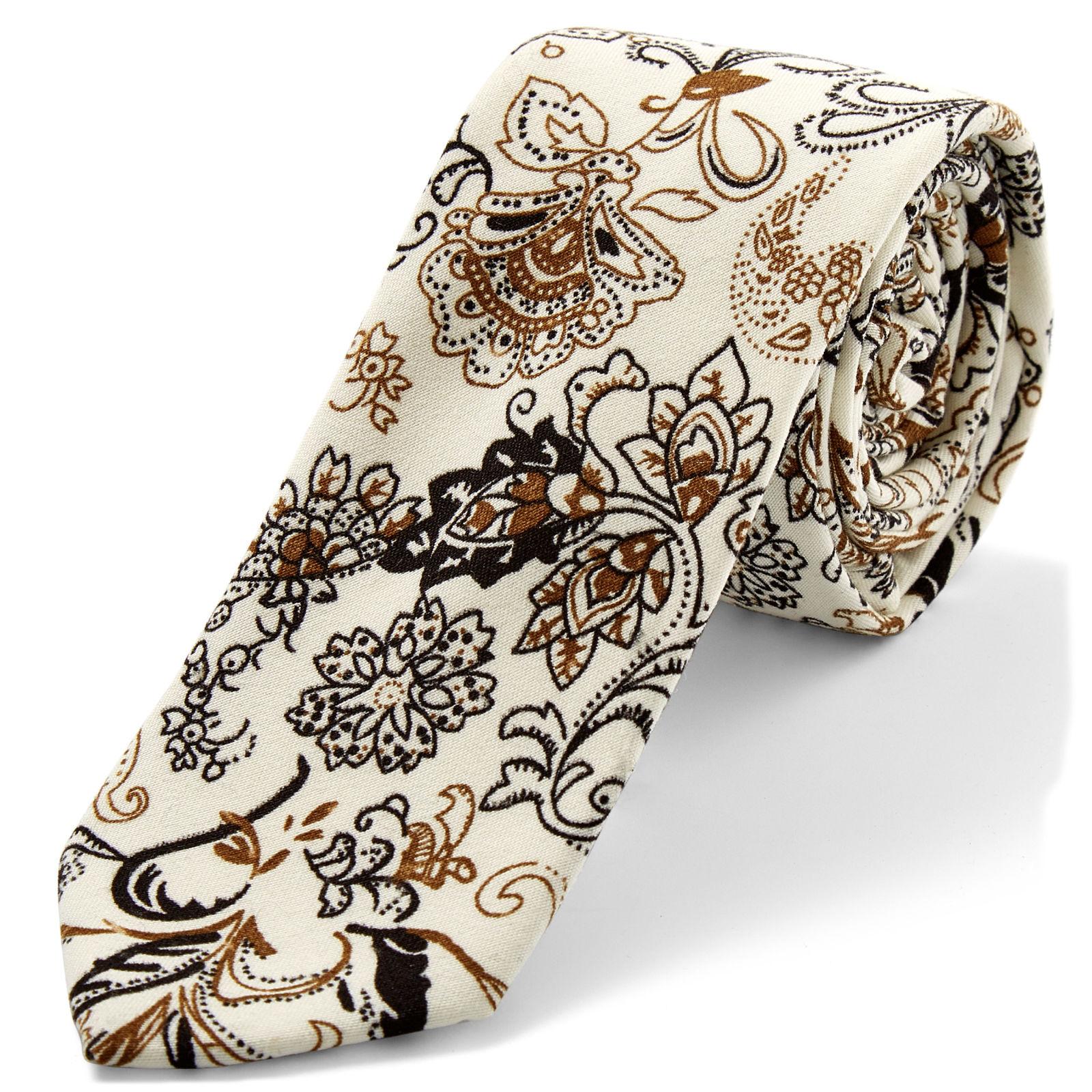 41fea5f11c6 Bílá kravata se vzorem